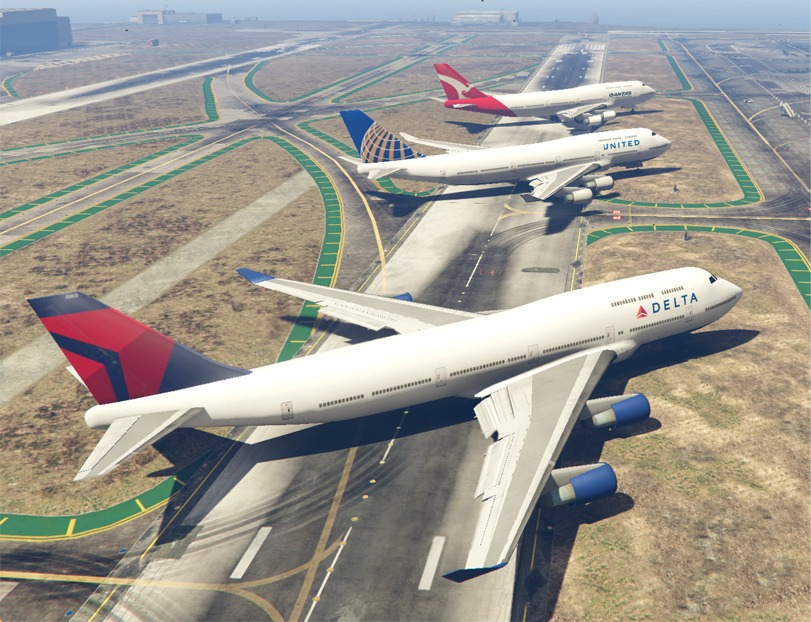 Real Airline Textures - GTA5