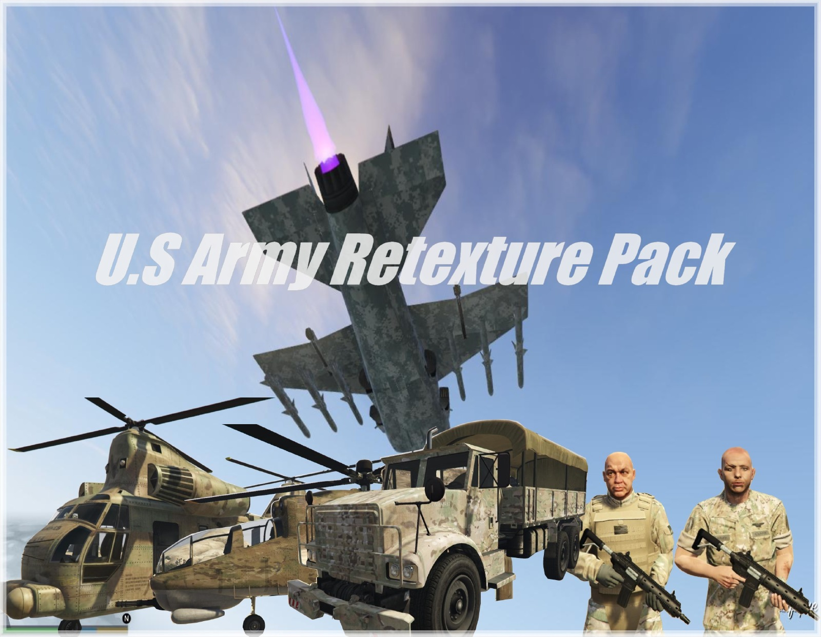 Real U.S Army Retexture Pack - GTA5