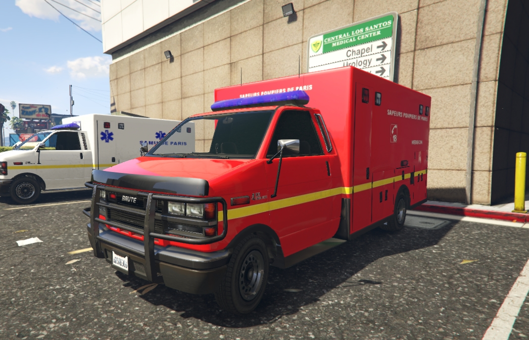 french ambulance divers pour gta v sur gta modding. Black Bedroom Furniture Sets. Home Design Ideas