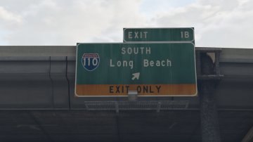 Real Freeway Signs - GTA5