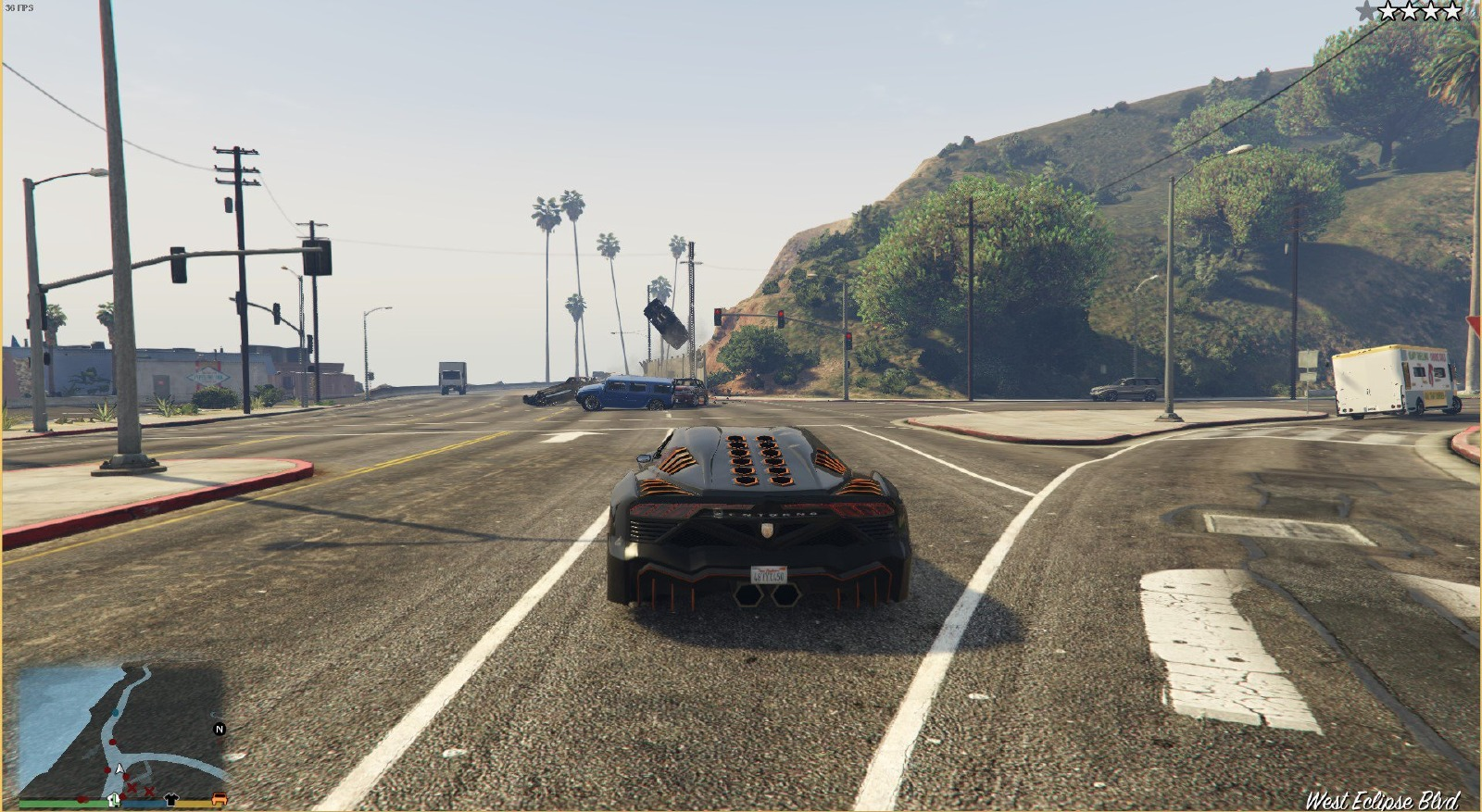 Speeding Cars - GTA5