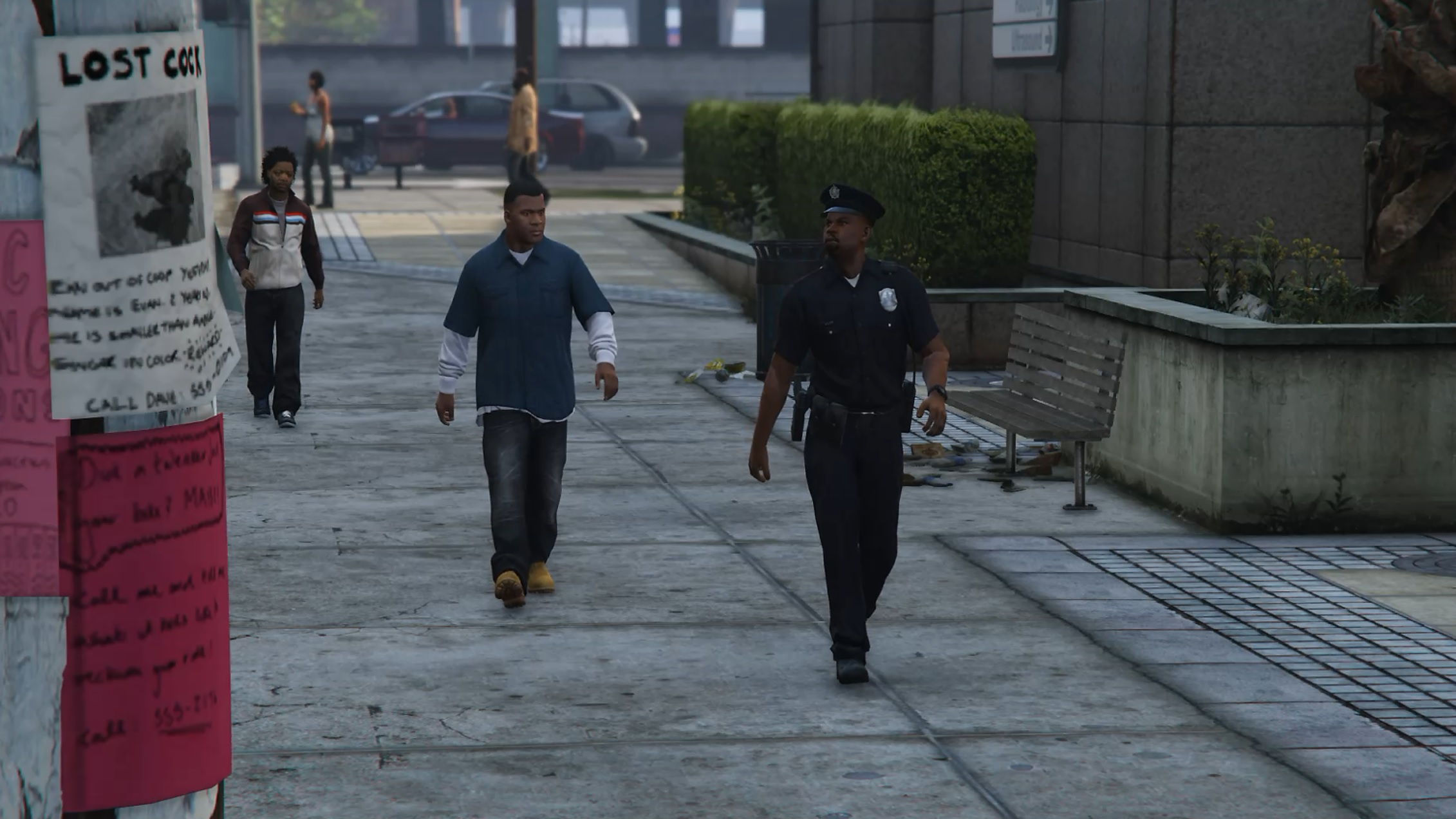 patrolling police   gang activity