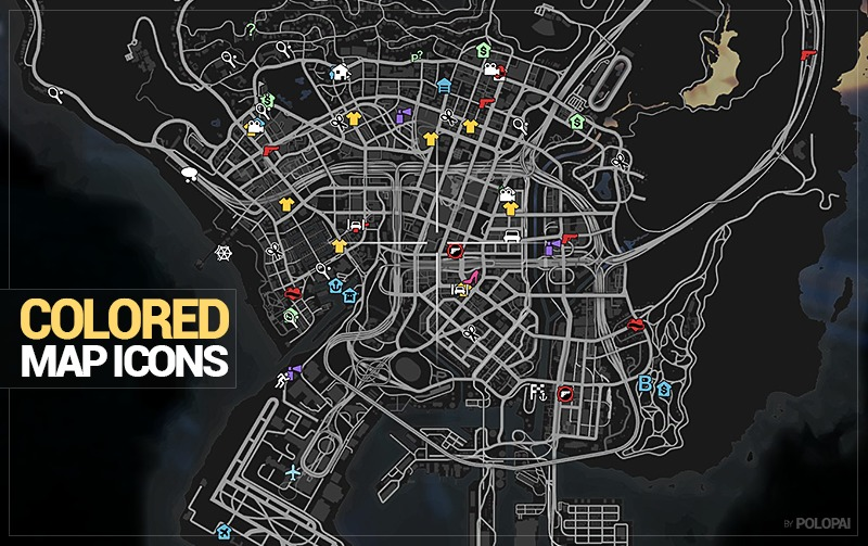 Colored Map Blips - GTA5