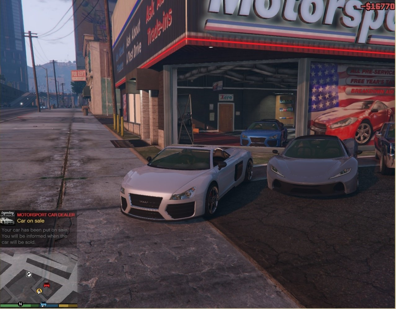 motorsport car dealer sell cars mods pour gta v sur gta modding. Black Bedroom Furniture Sets. Home Design Ideas