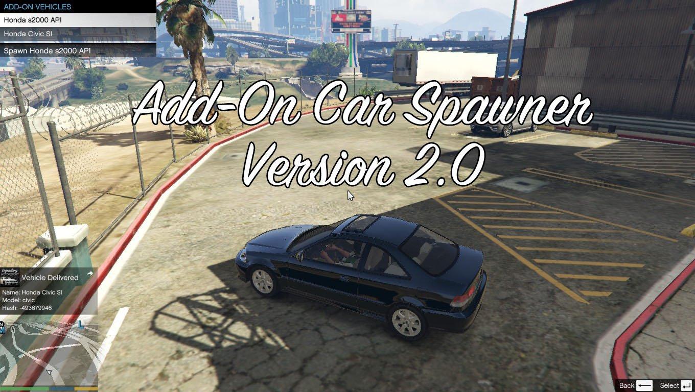 Add On Car Spawner Menu Mods Pour Gta V Sur Gta Modding