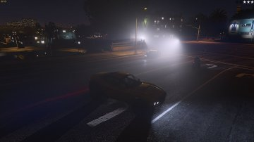 Search light on police cars - GTA5