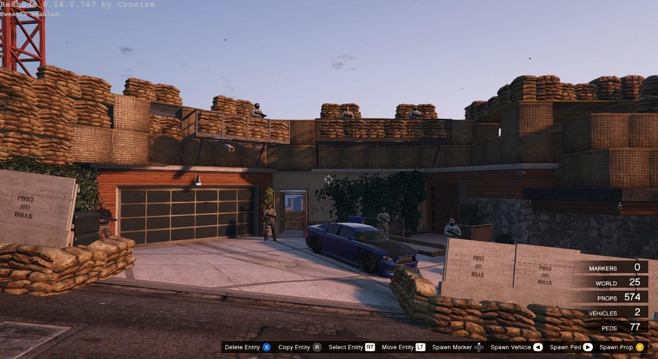 maison Franklin base militaire - Mods pour GTA V sur GTA Modding