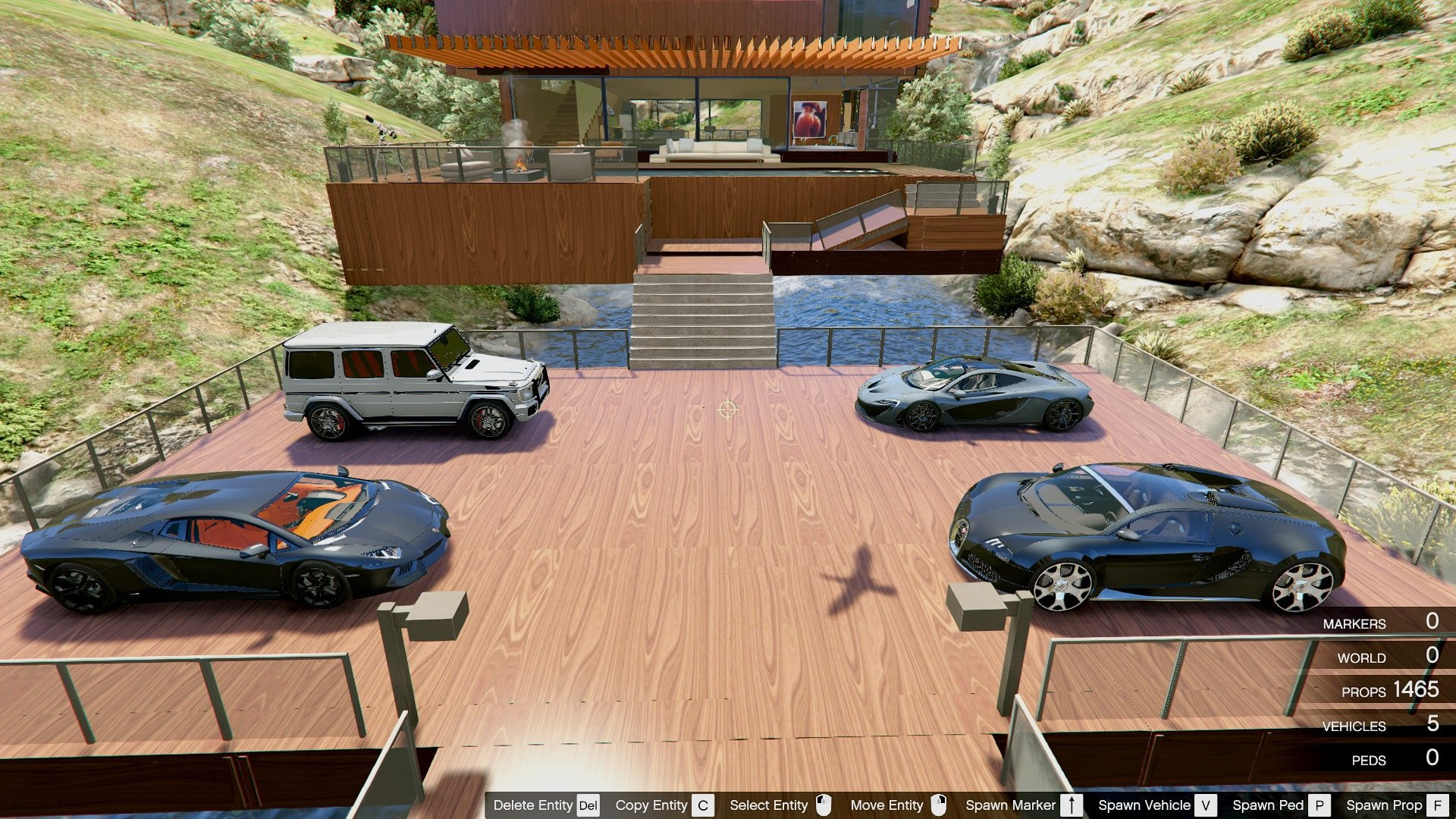 Luxury Wooden Villa Garage Helipad Pool Mods Pour