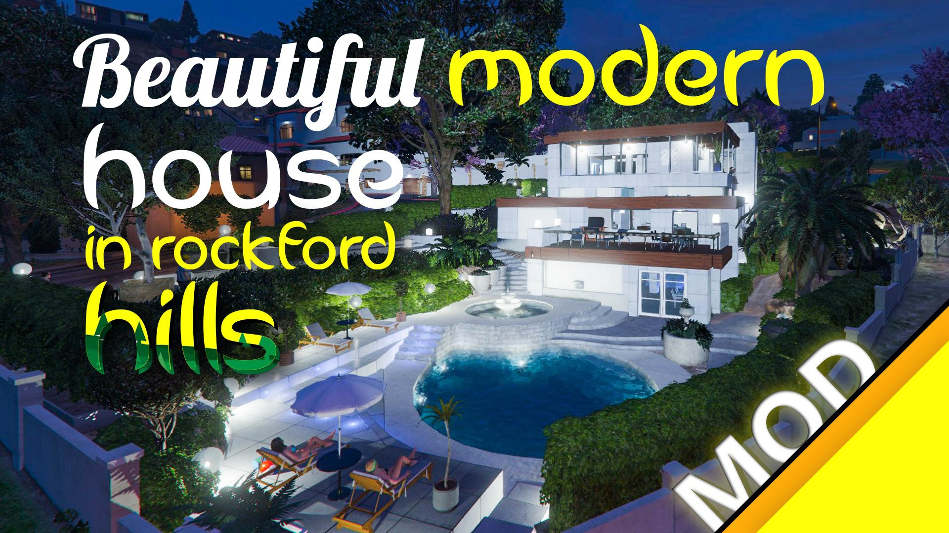 Beautiful Modern House in Rockford Hills - GTA5