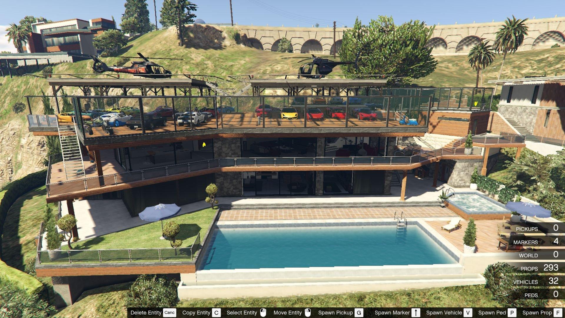 Franklin Garage Roof Map Editor Spg Mods Pour Gta V