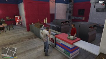 Working Burger Shot - GTA5
