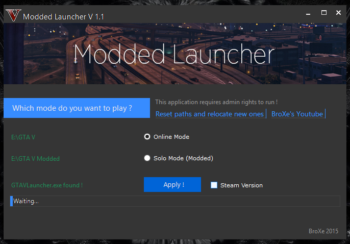Modded Launcher - GTA5