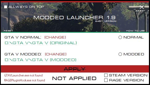 GTA V - Modded Launcher - GTA5