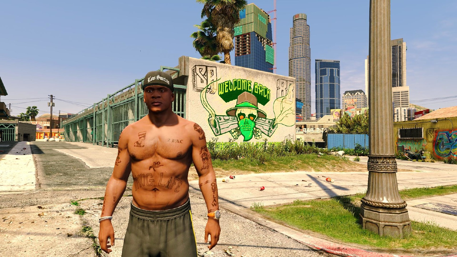 2Pac's Tattoos for Franklin - GTA5