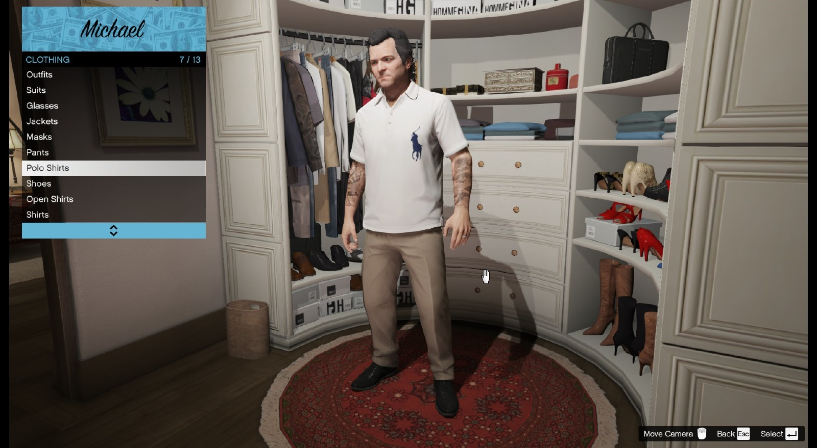 ralph lauren polo shirt personnages pour gta v sur gta modding. Black Bedroom Furniture Sets. Home Design Ideas