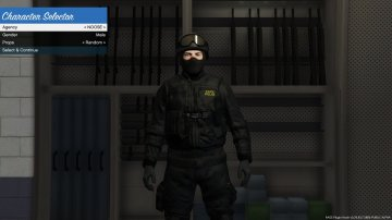 Black Textures for SWAT - State Police and FBI