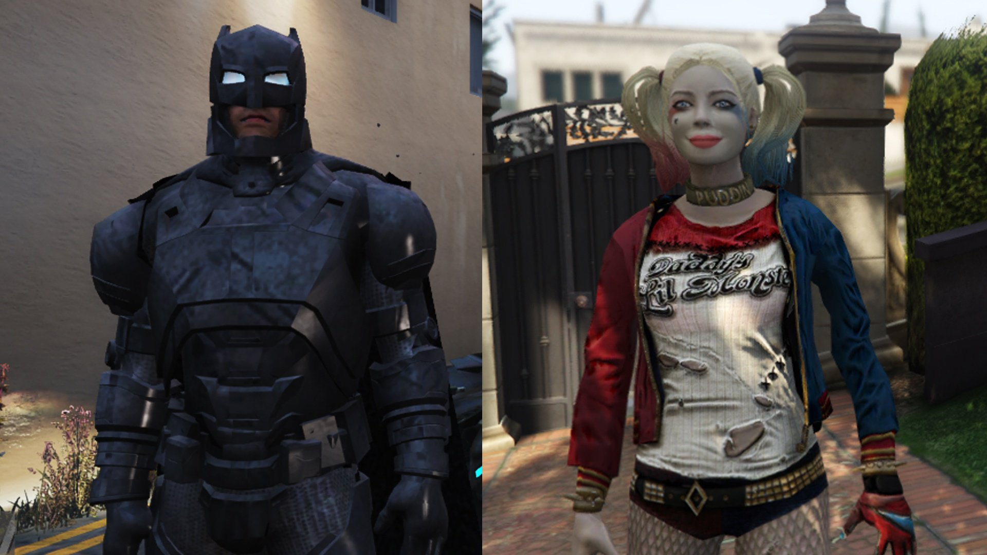 Armored Batman & Harley Quinn Retextured - GTA5