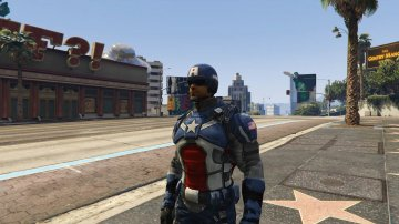 Captain America Modern Soldier + Shield [Add-On Ped] - GTA5