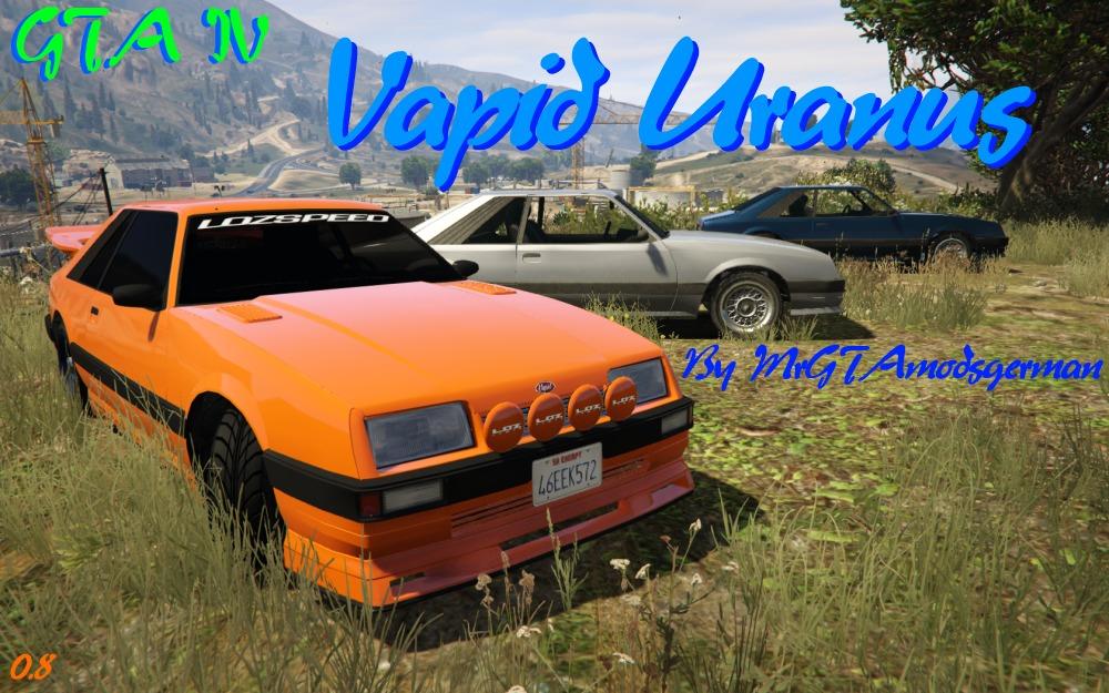 Gta Iv Vapid Uranus Tuning Vehicules Pour Gta V Sur