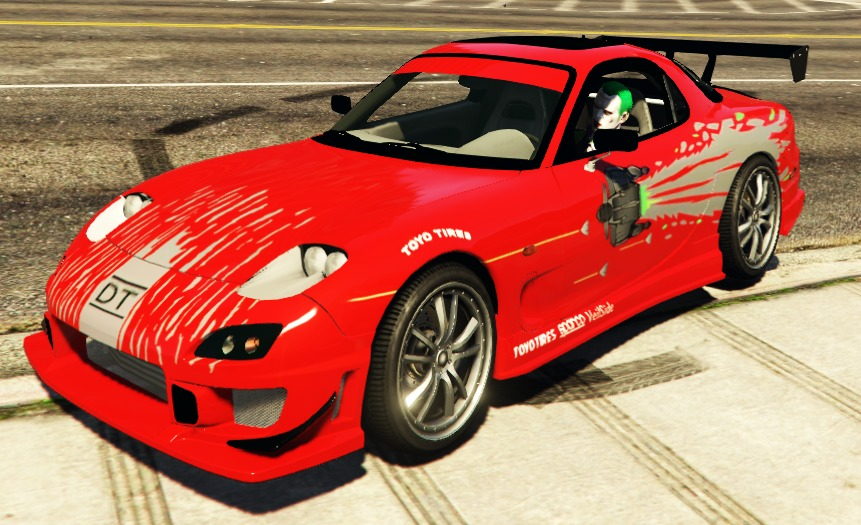Mazda RX-7 C-West Livery - The Fast and the Furious - GTA5