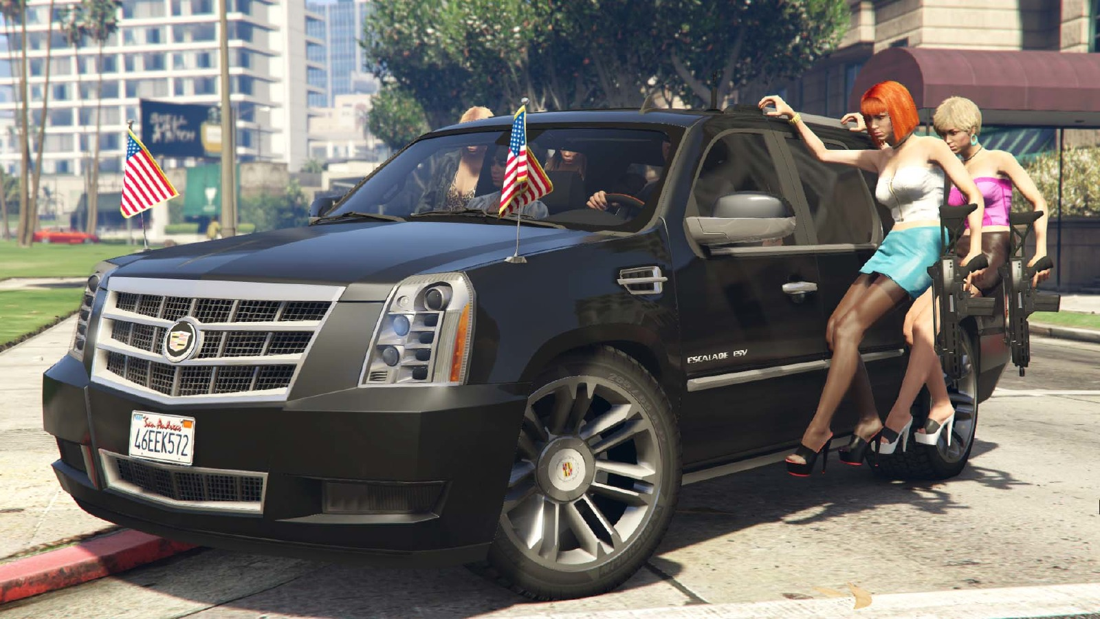 Cadillac Escalade Esv 2012 Vehicules Pour Gta V Sur Gta