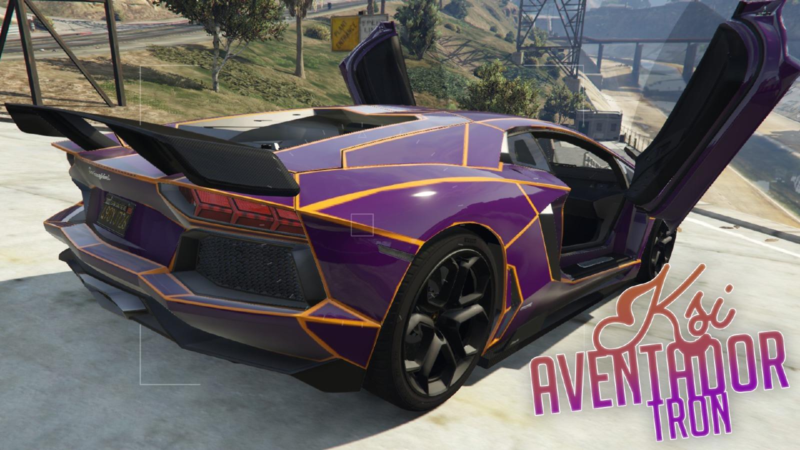Ksi Lamborghini Aventador Tron Skin Vehicules Pour Gta V Sur Gta Modding