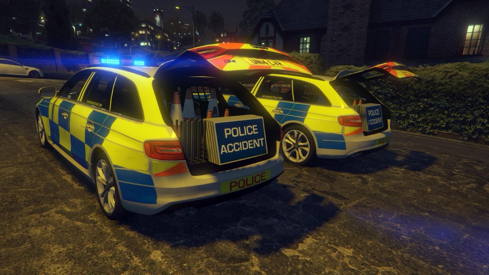 Audi A4 S4 Avant British Police Vehicules Pour Gta V Sur