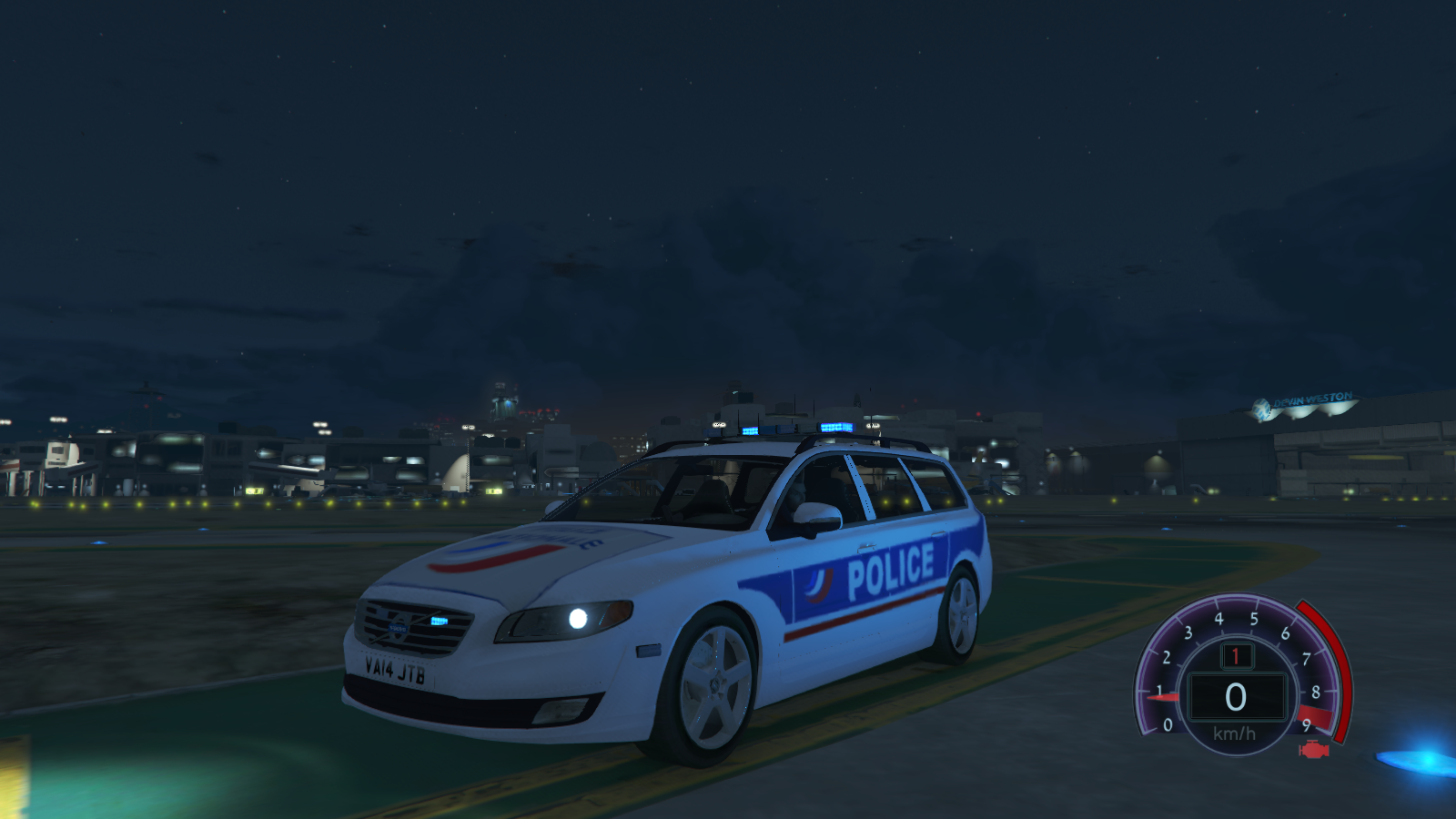 volvo v70 police nationale vehicules pour gta v sur gta modding. Black Bedroom Furniture Sets. Home Design Ideas