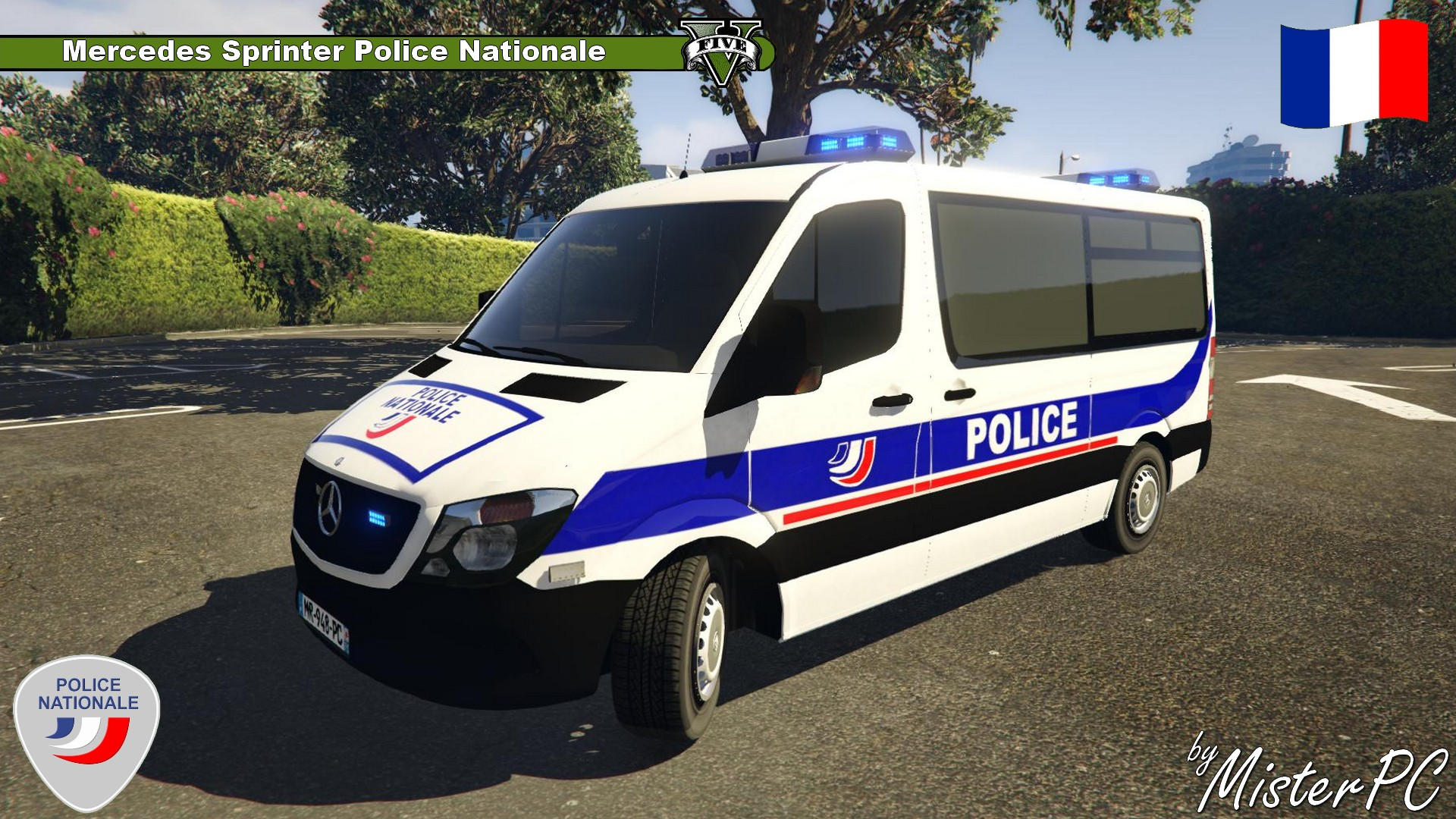 mercedes sprinter police nationale vehicules pour gta v sur gta modding. Black Bedroom Furniture Sets. Home Design Ideas