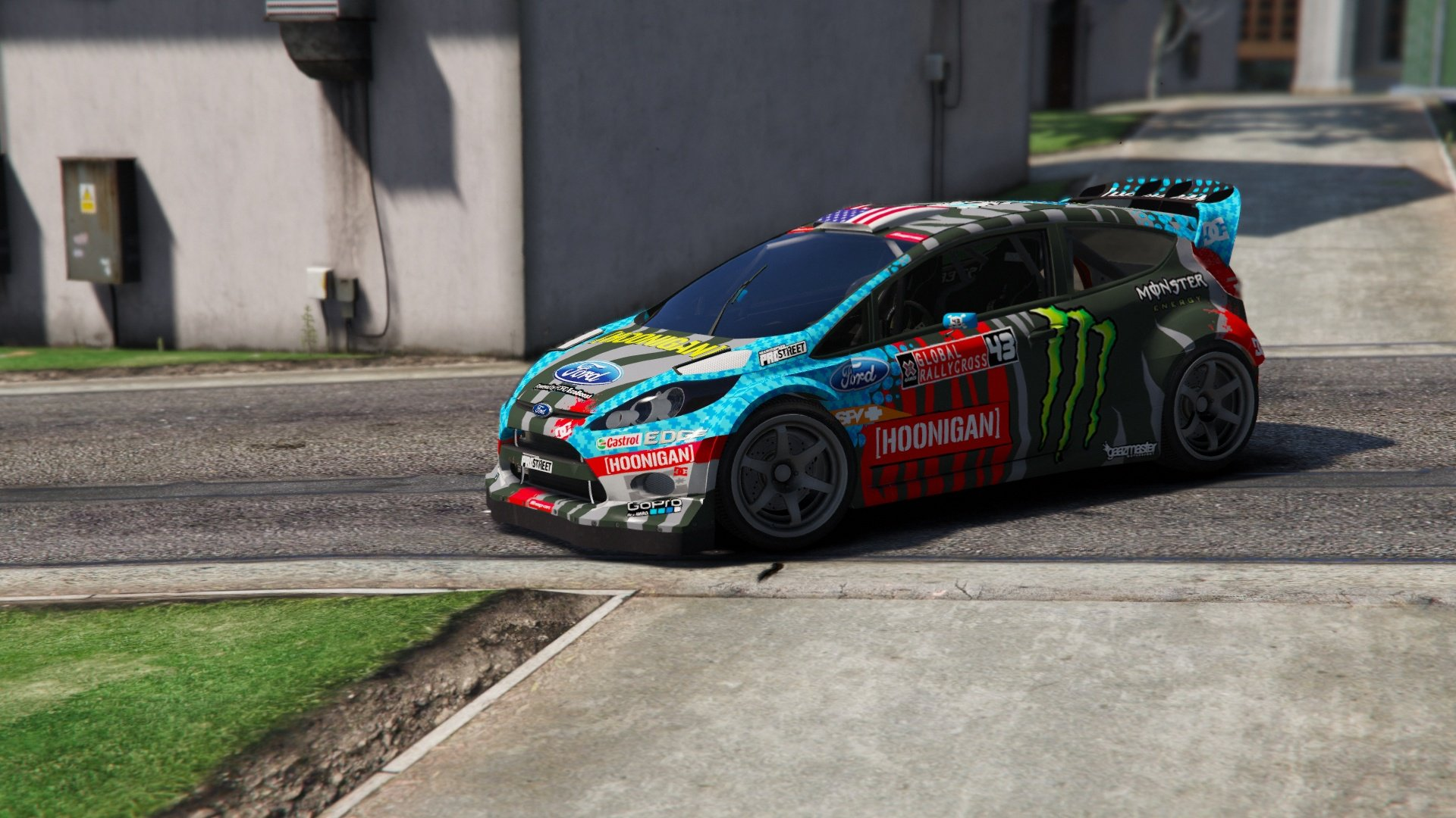 ford fiesta ken block vehicules pour gta v sur gta modding. Black Bedroom Furniture Sets. Home Design Ideas