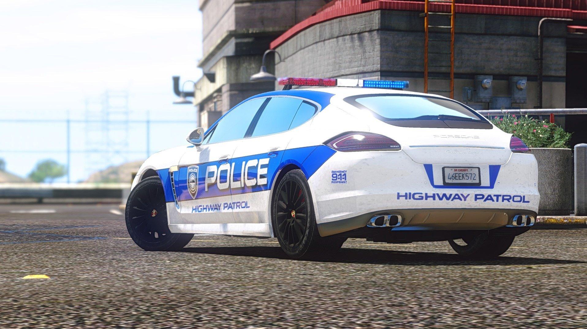 porsche panamera turbo nfs hot pursuit police car vehicules pour gta  sur gta modding