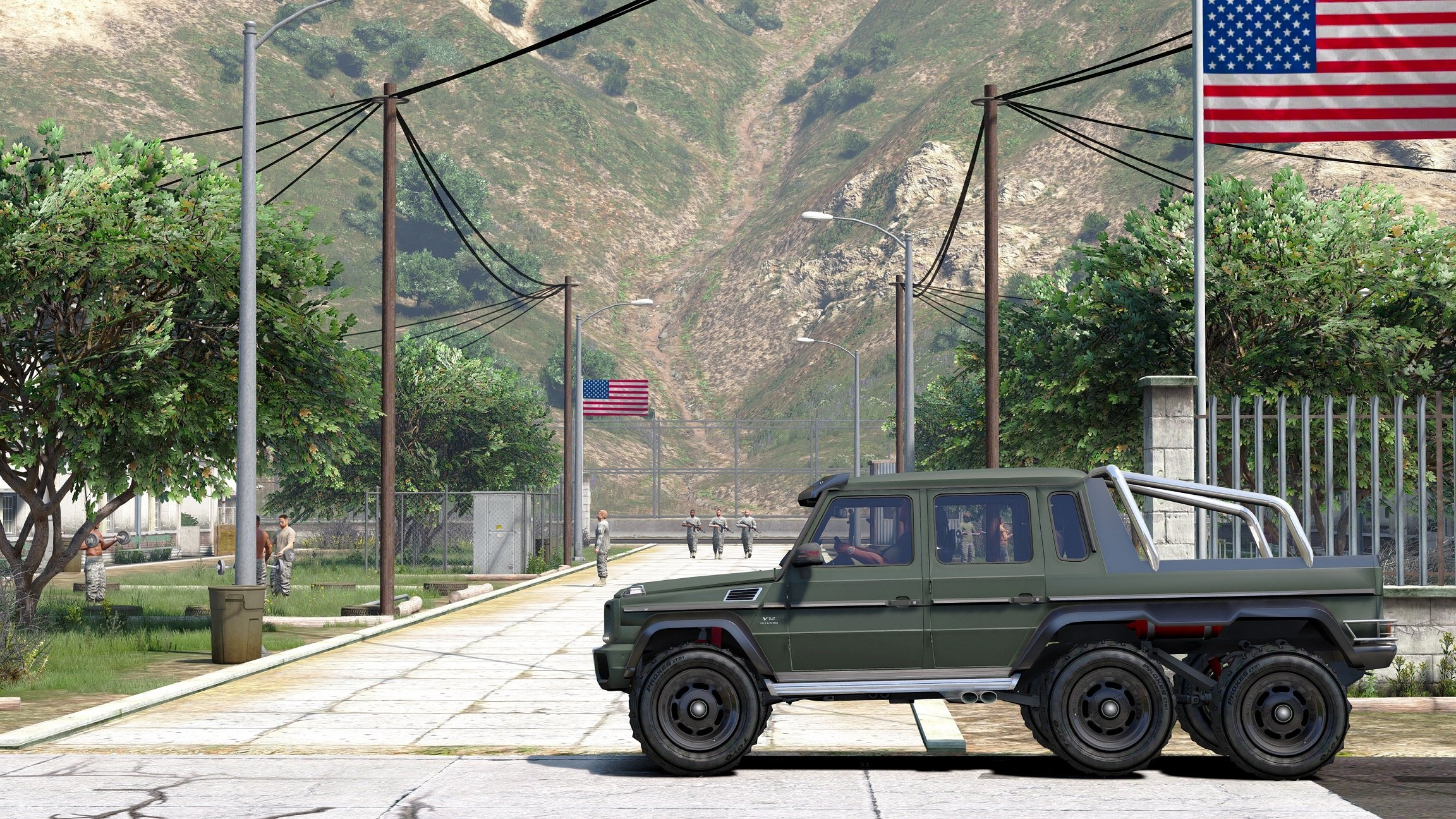 mercedes benz g65 6x6 vehicules pour gta v sur gta modding. Black Bedroom Furniture Sets. Home Design Ideas