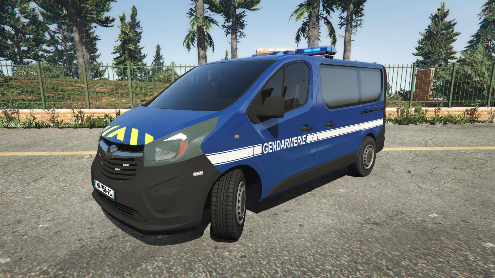 opel vivaro gendarmerie nationale vehicules pour gta v sur gta modding. Black Bedroom Furniture Sets. Home Design Ideas