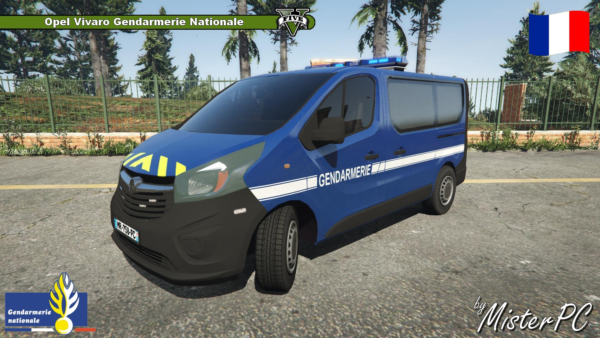 opel vivaro gendarmerie nationale vehicules pour gta v sur gta modding. Black Bedroom Furniture Sets. Home Design Ideas
