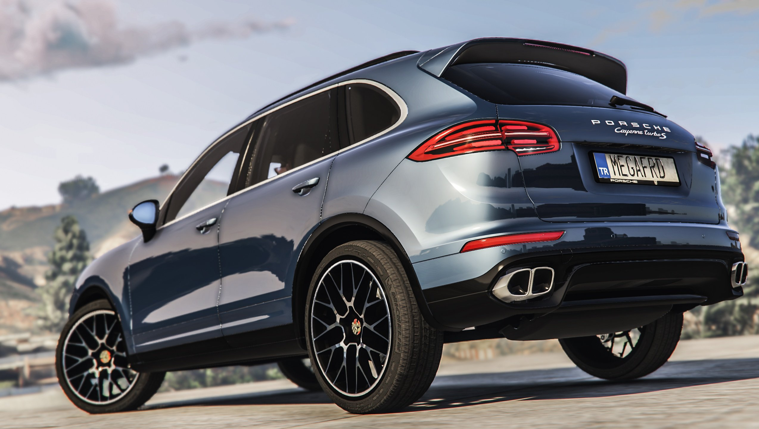 porsche cayenne turbo s 2016 add on replace vehicules pour gta v sur gta modding. Black Bedroom Furniture Sets. Home Design Ideas
