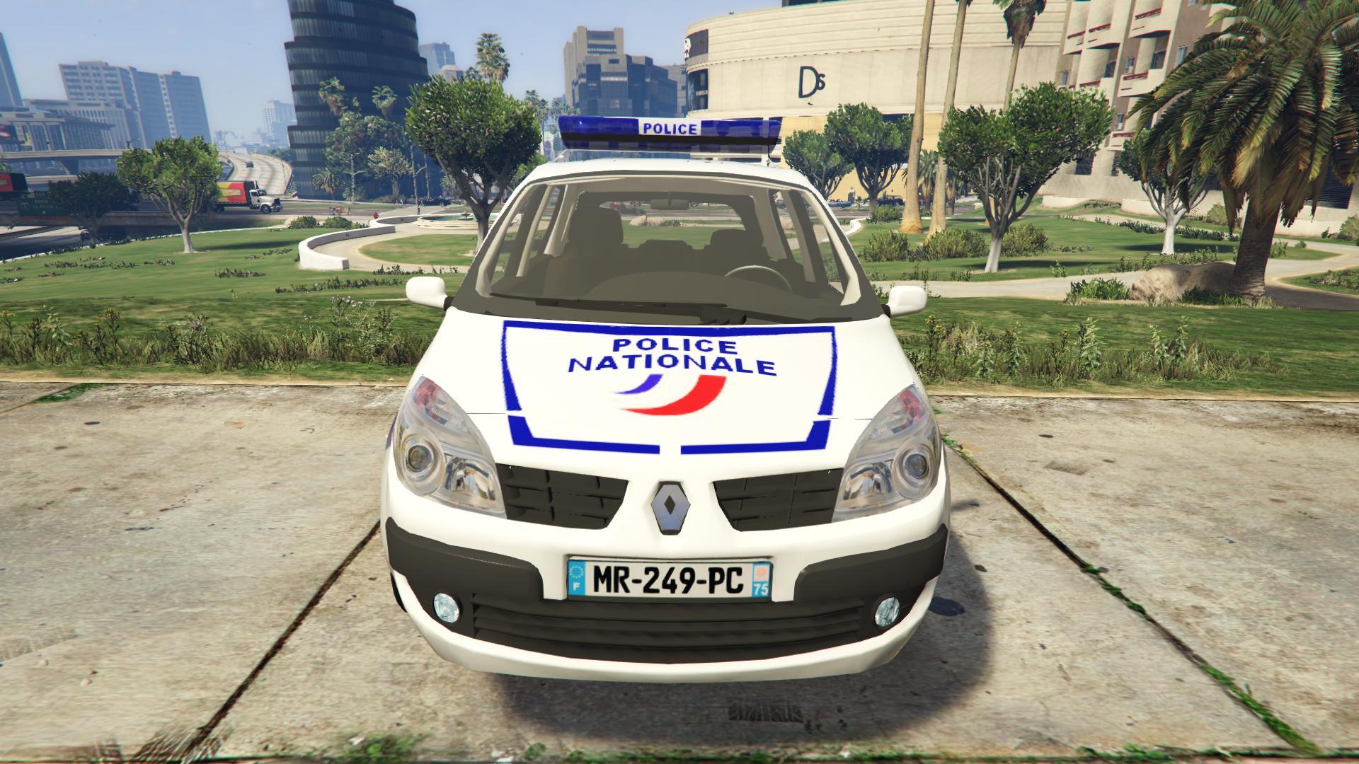 renault scenic ii police nationale vehicules pour gta v sur gta modding. Black Bedroom Furniture Sets. Home Design Ideas