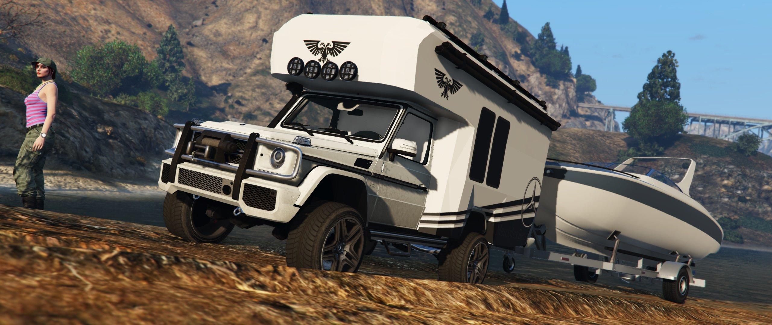 mercedes benz g wagon camper vehicules pour gta v sur. Black Bedroom Furniture Sets. Home Design Ideas