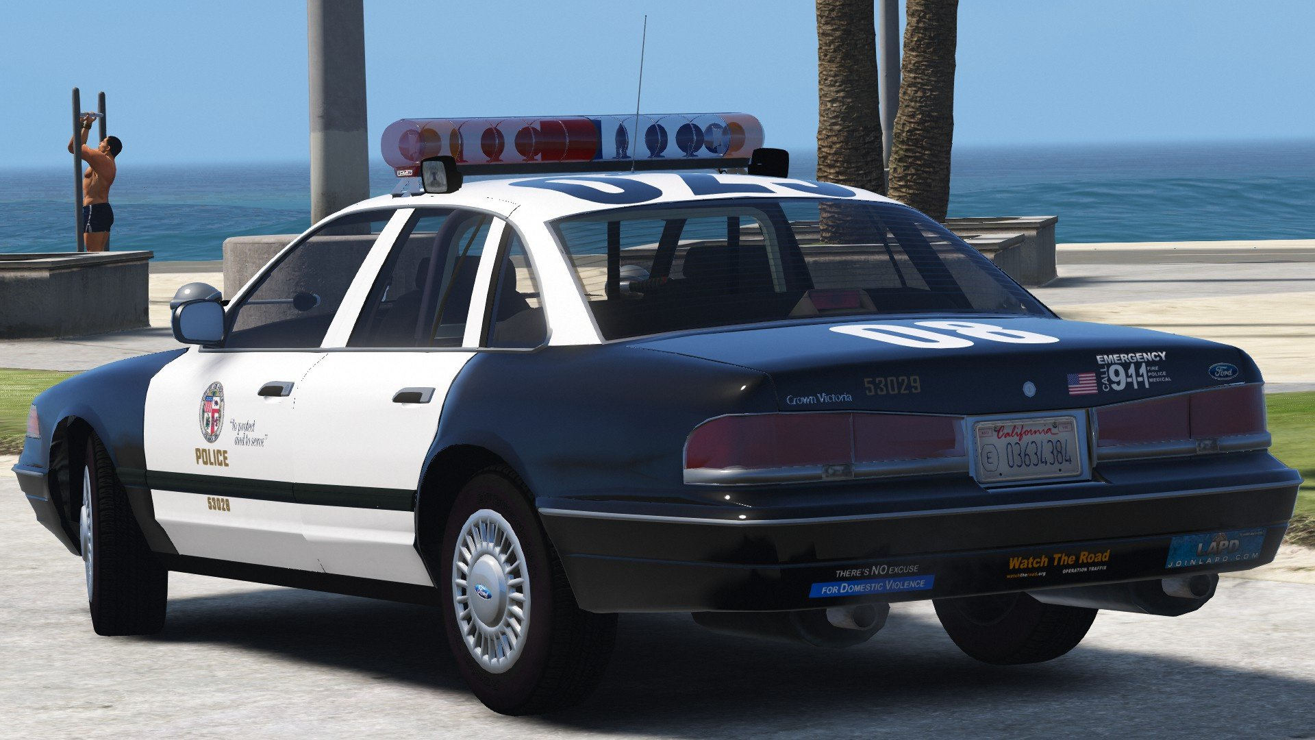 ford crown victoria p71 1996 - los angeles police