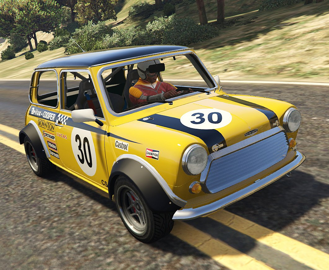 austin mini cooper s mk2 miglia add on tuning livery vehicules pour gta v sur gta modding. Black Bedroom Furniture Sets. Home Design Ideas