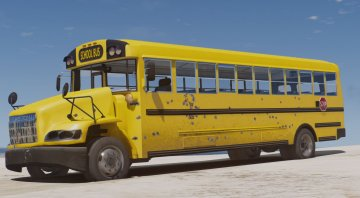 Caisson Elementary C School Bus [Add-On / Replace | Wipers] - GTA5