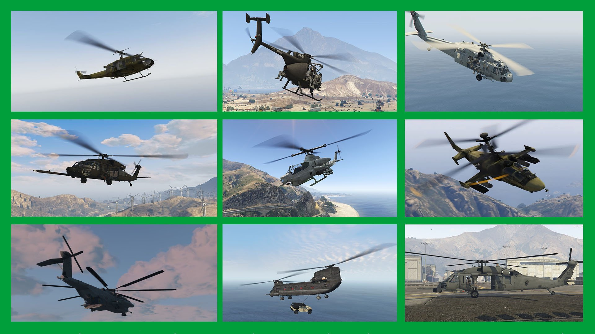 War Helicopters Add-On Pack - GTA5