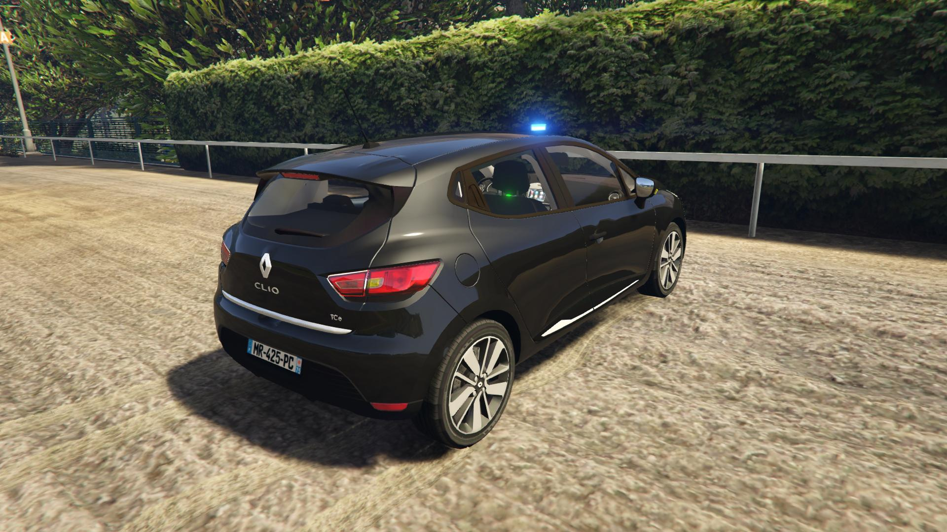 renault clio 4 bac unmarked police vehicules pour gta v sur gta modding. Black Bedroom Furniture Sets. Home Design Ideas