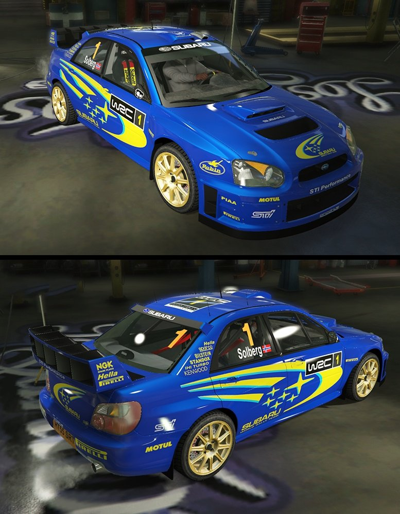 Subaru Impreza S11 WRC Add On Livery Vehicules Pour