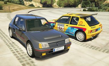 Peugeot 205 Turbo 16 & Rally (2in1) [Add-On | Tuning | Livery]