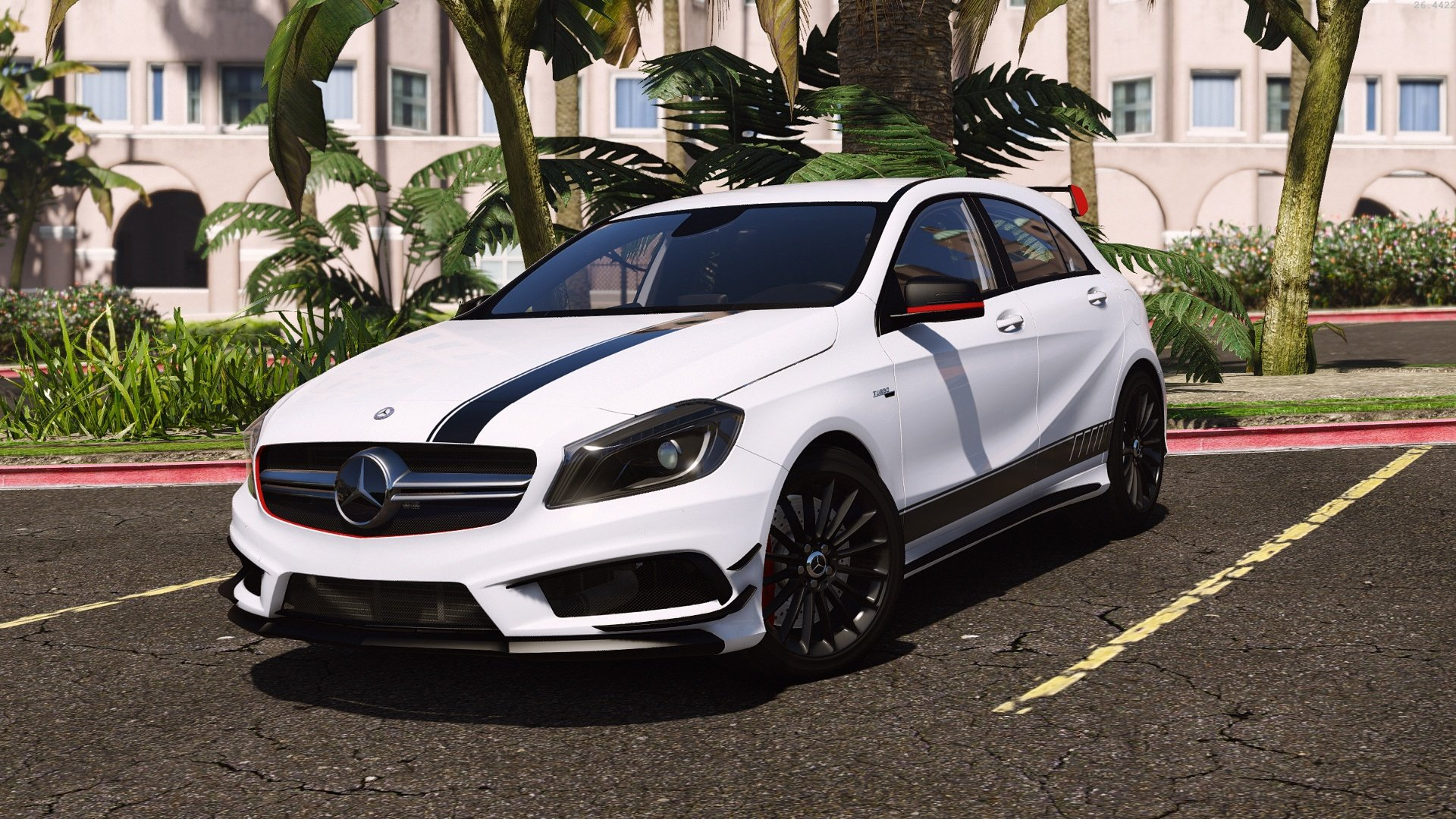 mercedes benz classe a 45 amg edition 1 add on replace vehicules pour gta v sur gta modding. Black Bedroom Furniture Sets. Home Design Ideas