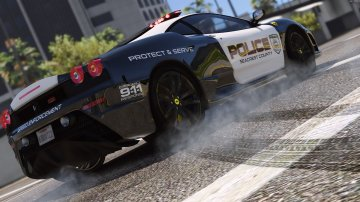 Ferrari F430 Scuderia | Hot Pursuit Police [Add-On / Replace | Tuning | Template] - GTA5